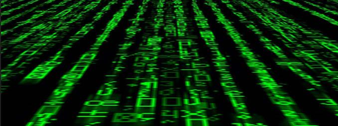 green matrix text