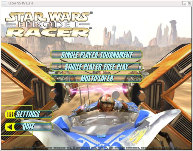 Open Star Wars Episode 1 Racer title screen