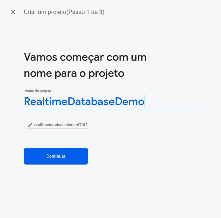 criarProjetoFirebase