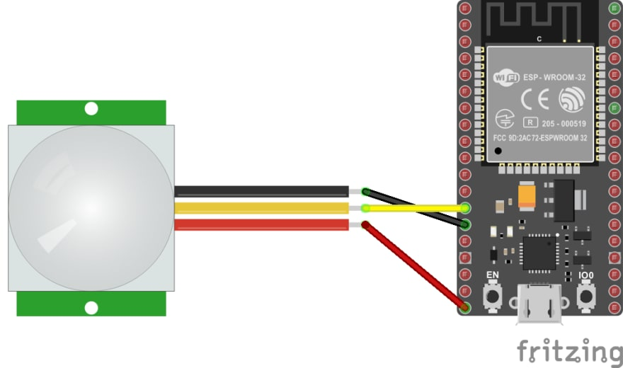 esp32 wiring schema