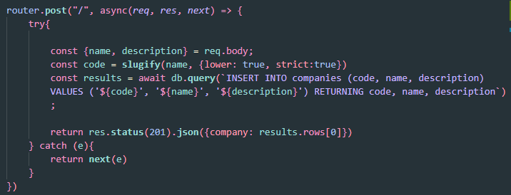 Vulnerable Query Example