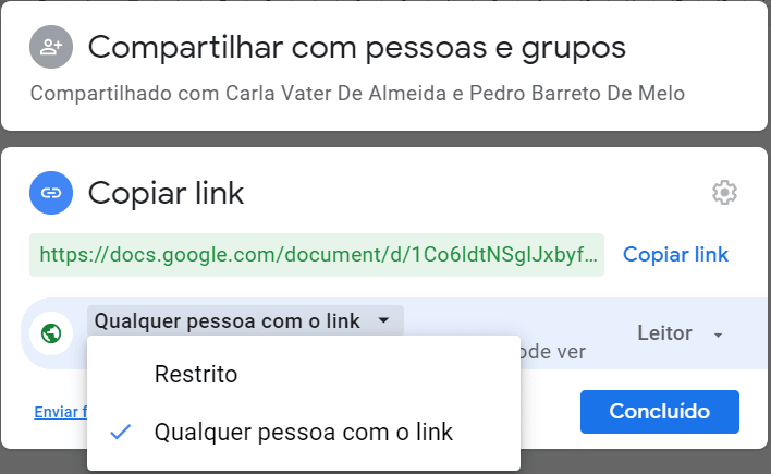 copiar o link