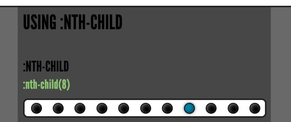 Cover image for Mastering the :nth-child CSS