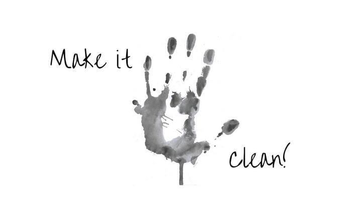 Dirty hand print