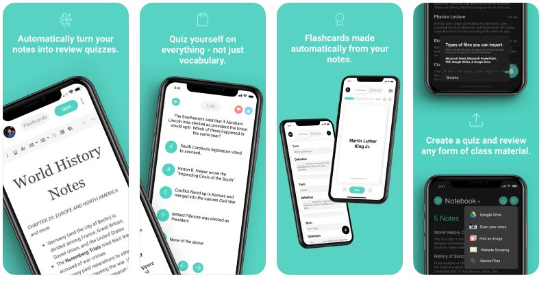 React Native apps: Knowt app screenshots