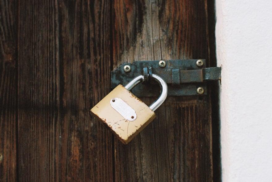 Locked barn door