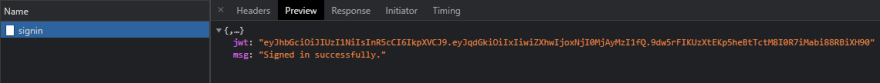 JWT authentication