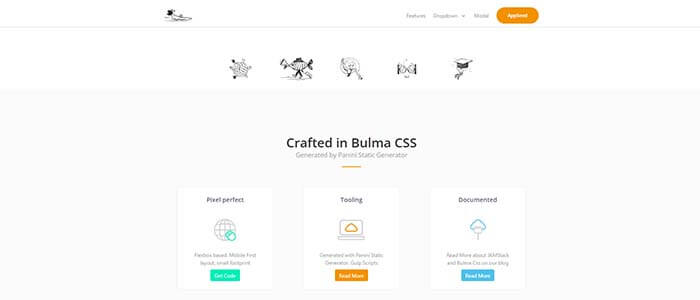 Screen Shot of BulmaPlay - Free app built with Bulma CSS.