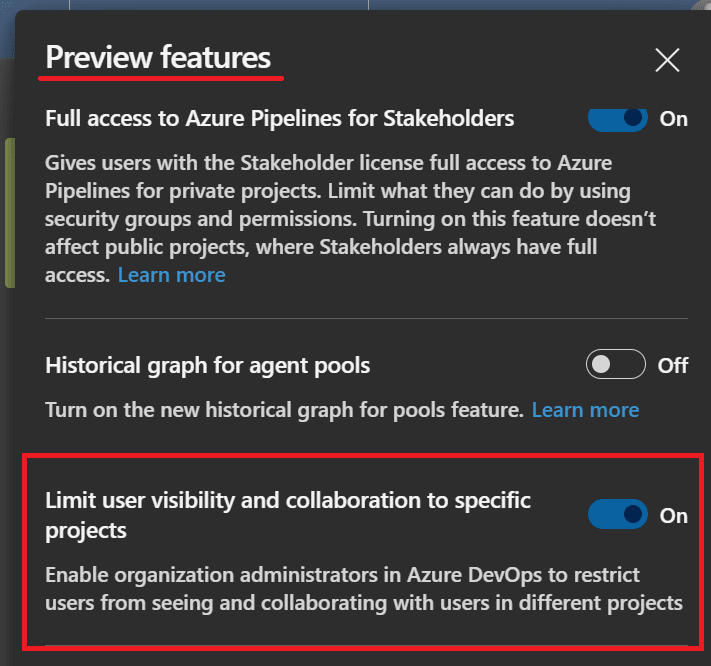 Feature Enabled