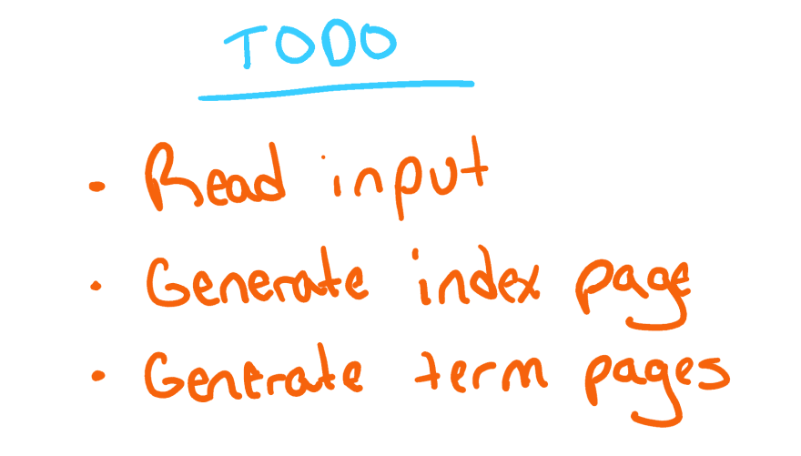 TODO List for Programming Projects