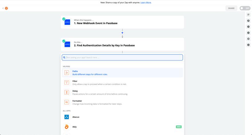 Passbase no-code app integrations with Zapier