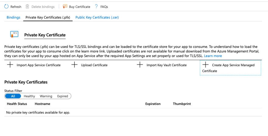 Private Key Certificates