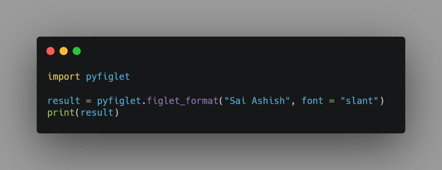 Final Source Code for Figlet Generator: