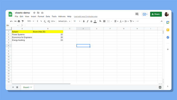 Example for creating and posting data