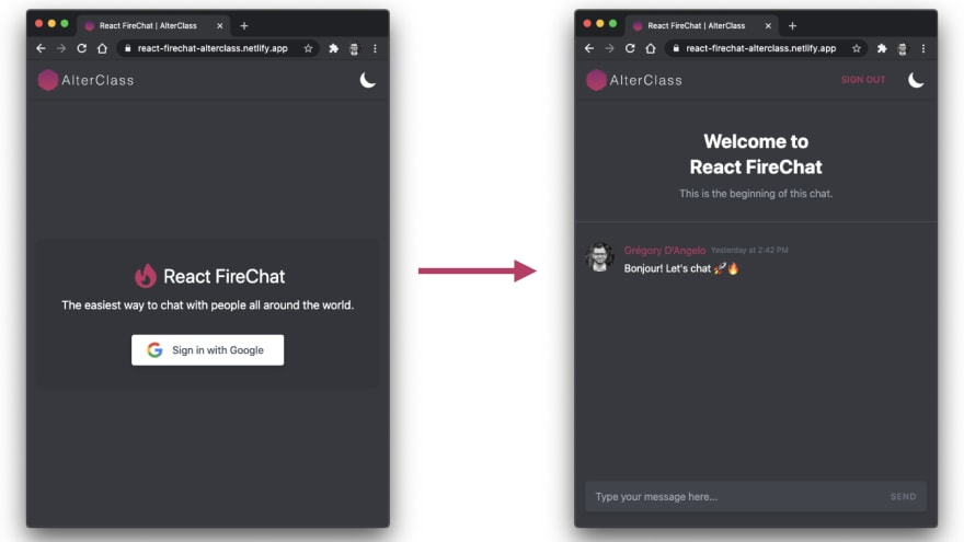 React Firebase App Views
