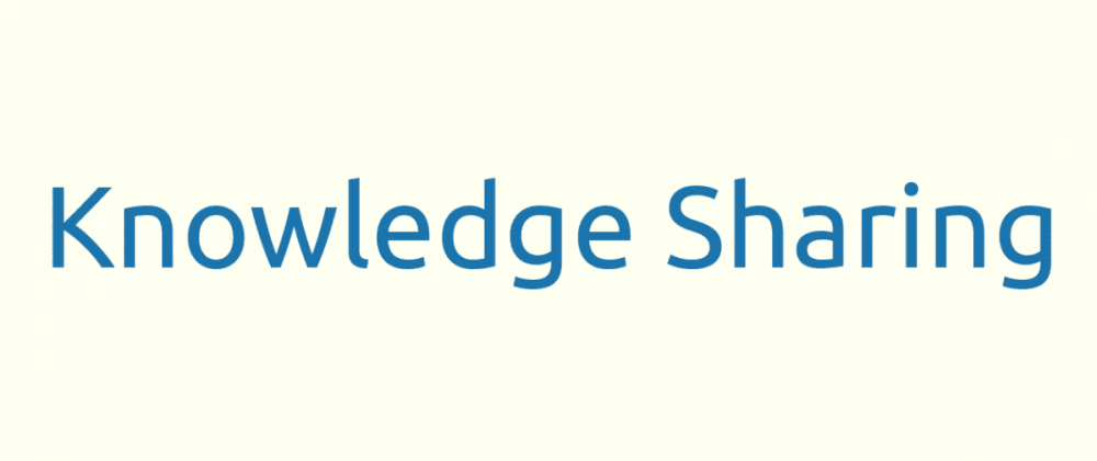 Cover image for Knowledge Sharing