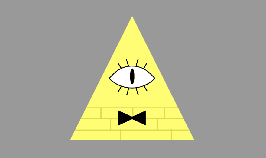 The previous triangle but now the 8 eyelashes look more proportionate and nice