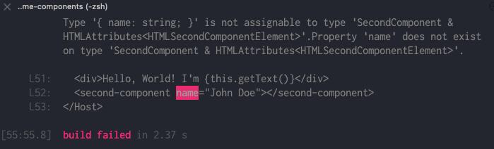 TypeScript build error
