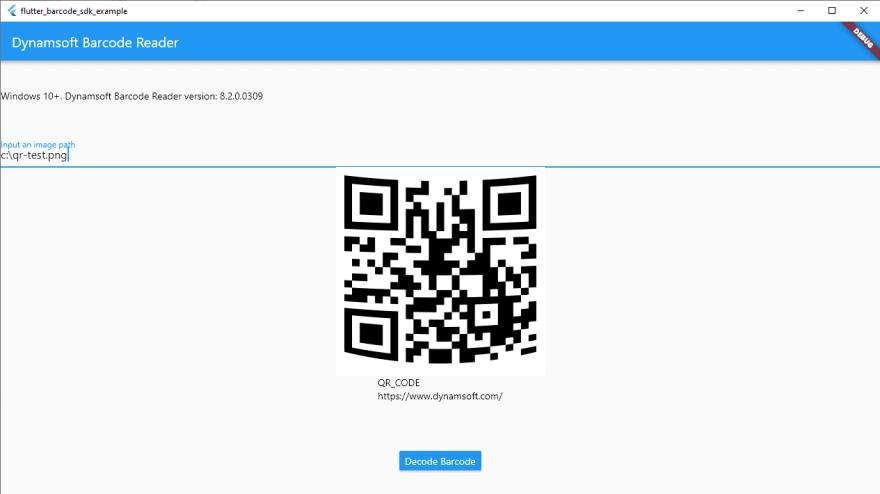 Flutter Windows desktop barcode reader