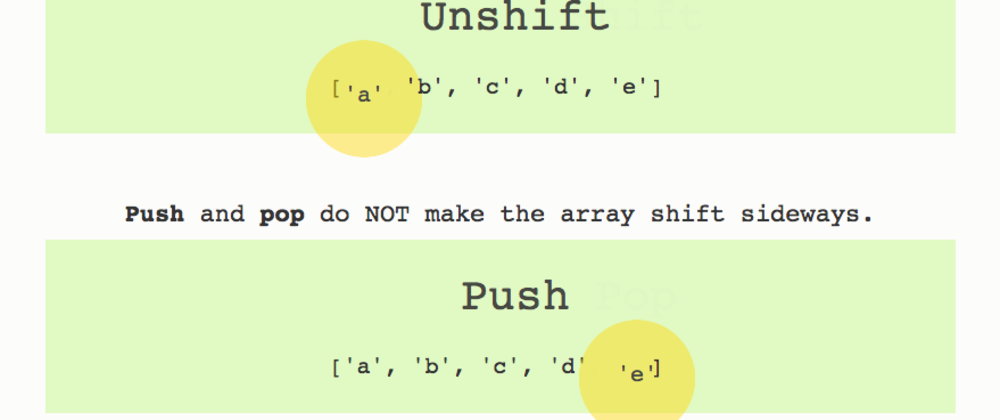 Cover image for JavaScript array push, pop, shift, unshift: how to remember the difference