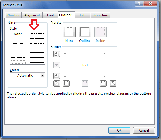 Border Line Styles in Microsoft Excel represented by CellBorderType in Aspose.Cells API.