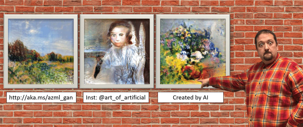 Cover image for Creating Generative Art using GANs on Azure ML