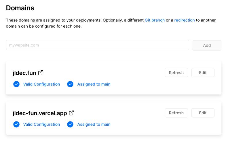 Dashboard domain settings fixed