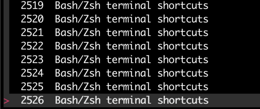 Cover image for Obvious and not-so-obvious Bash/Zsh terminal shortcuts