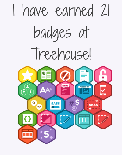 image of how the Treehouse badges should appear