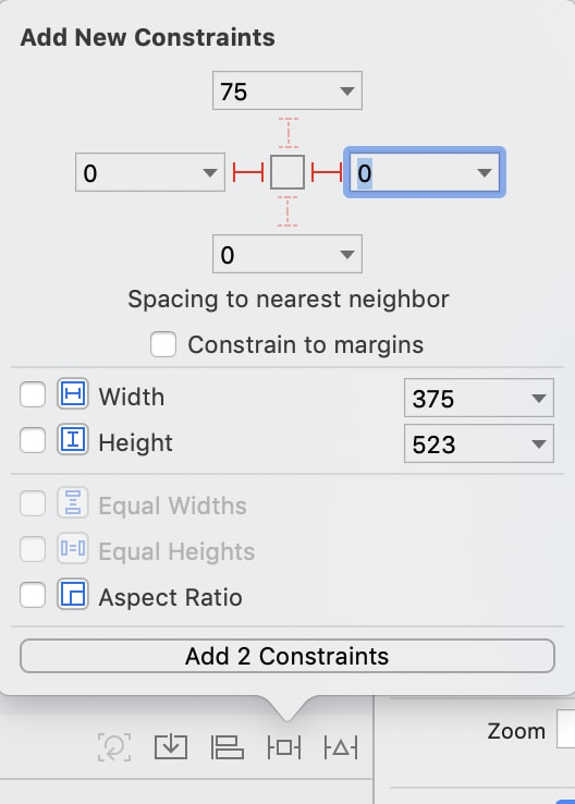 picture of constraints for left and right