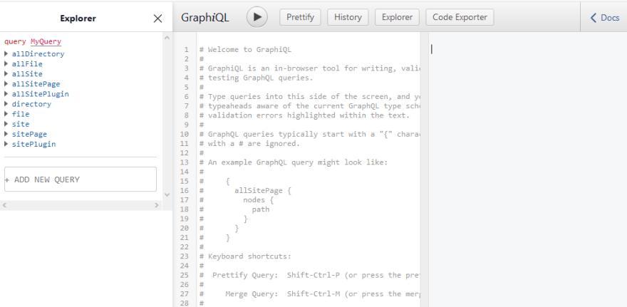 GraophiQL IDE