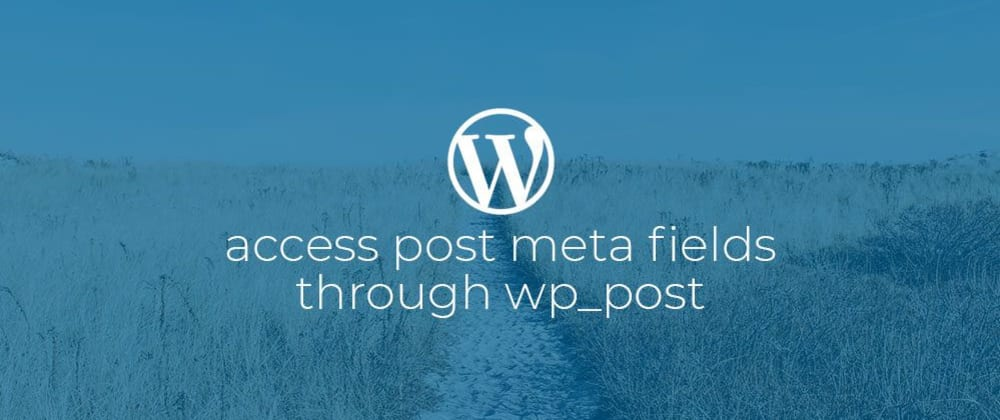 Cover image for WordPress: Access post meta fields through WP_Post.