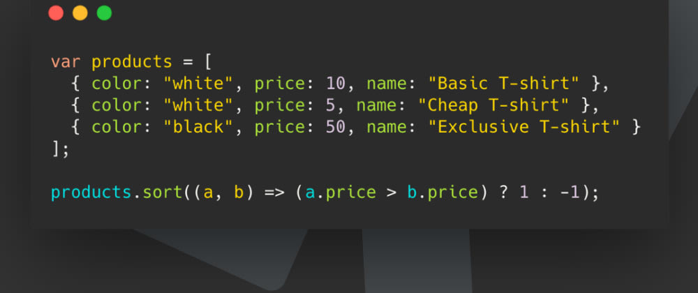 Cover image for JavaScript Sort Array of Objects by Value
