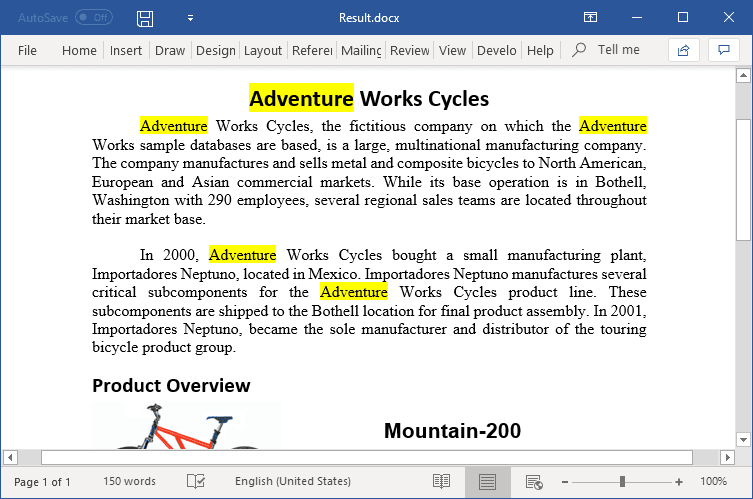 Find text and highlight it