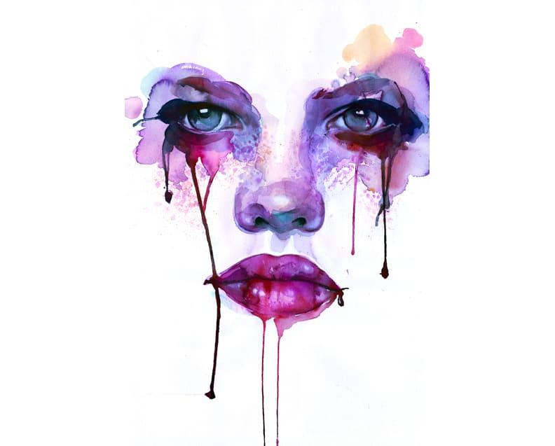 Marion Bolognesi watercolor face