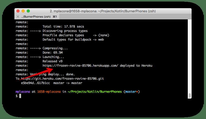creating a heroku application in Kotlin