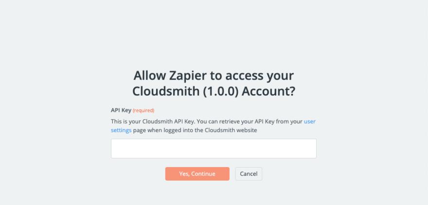 Cloudsmith API Authorization