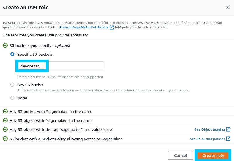 AWS SageMaker Notebook Custom IAM