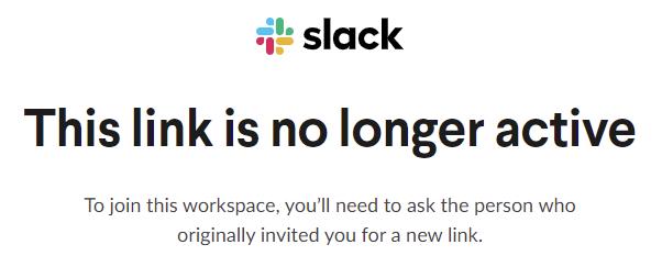 Invite Link Error