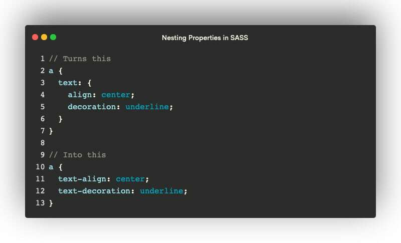 Nested properties in SCSS