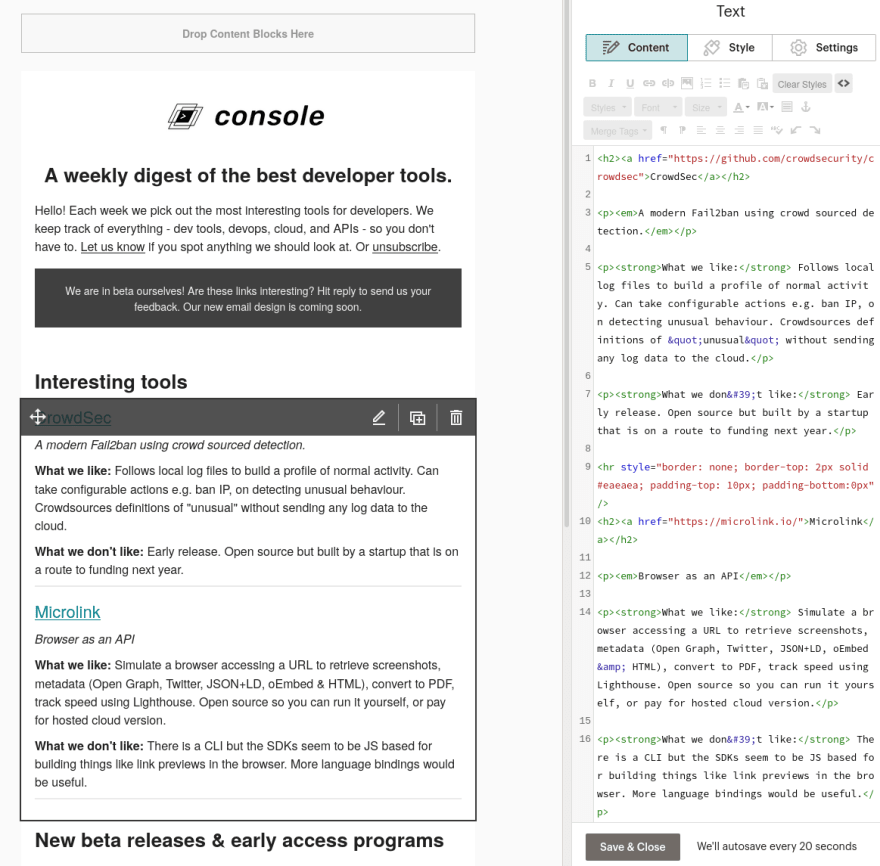 Using Google Apps Script to streamline our editorial process