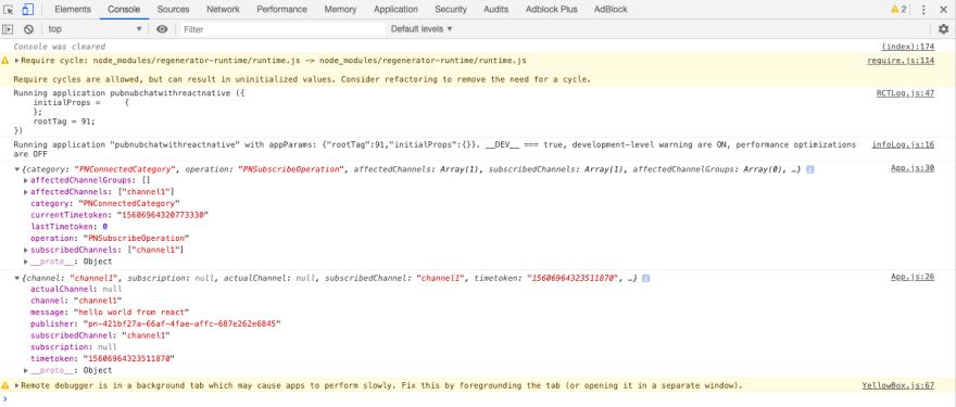 JS Chrome Debugger with PubNub Messages