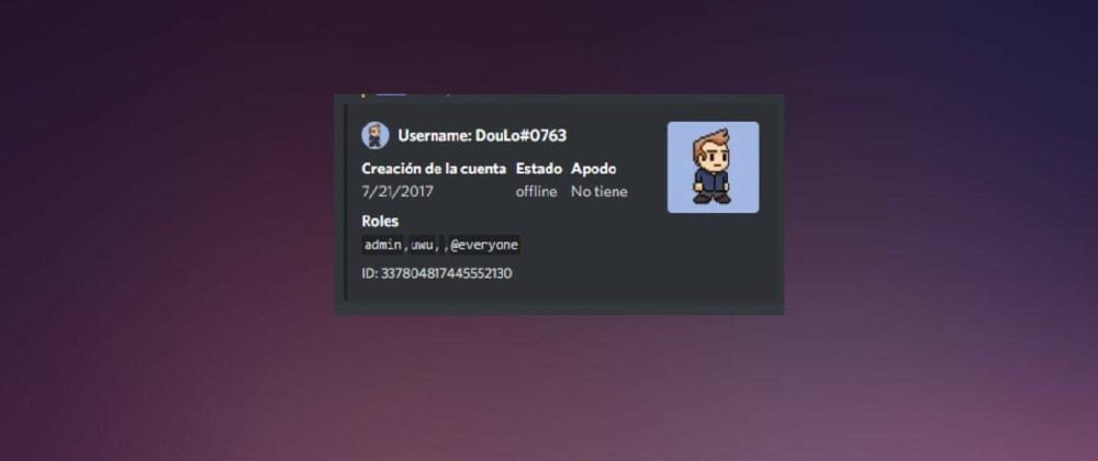Cover image for Discord.JS: Datos de Usuarios
