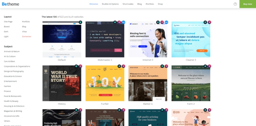 "A typical ""multi-purpose"" WordPress theme"