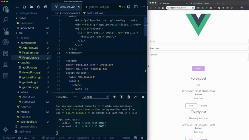 Vue and GraphQL with Hasura video course - DEV Community