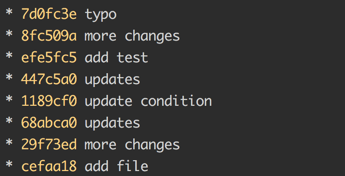 A sadly common commit history