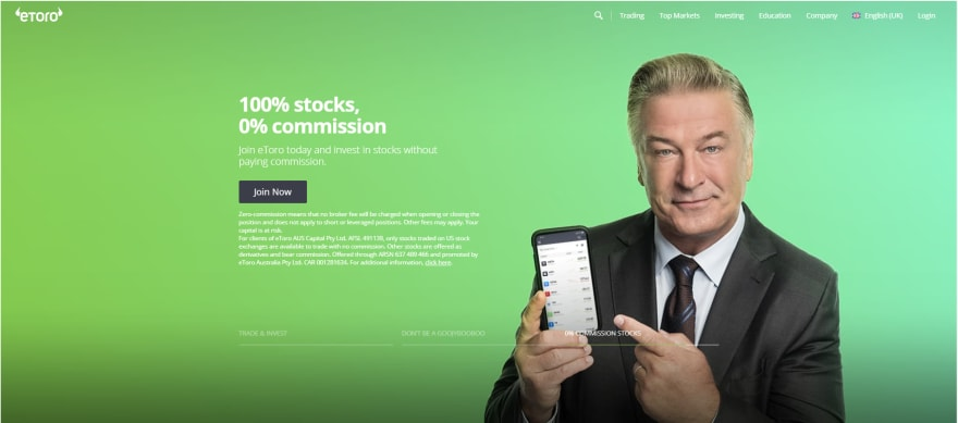 Etoro is a multi-asset social trading platform which is a pioneer of social trading.