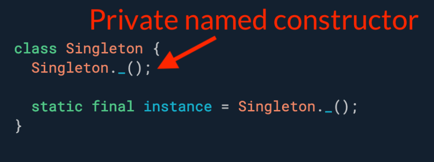 Need a class that can only be instantiated once (aka singleton)? Use static instance variable with a private constructor.