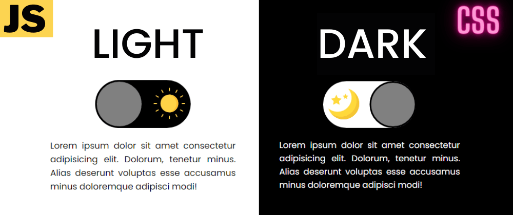 Cover image for Light/Dark Mode Toggle Button Using 1 variable 2021 || CSS JS