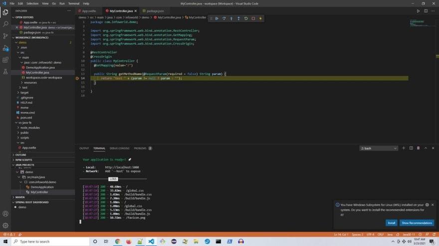 Debugging a Java File